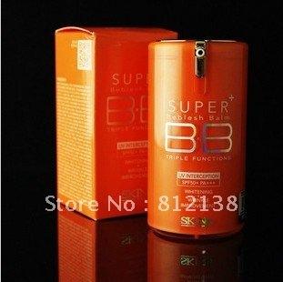 Hot !! Wholesale  triple function  365 DAYS vitamin orange super  BB Cream SPF50+ PA+++ 40ml 6pcs/lot free shipping
