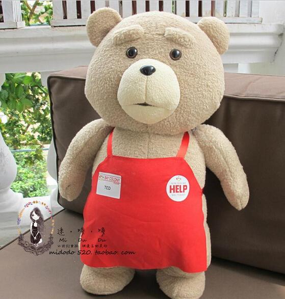 Cartoon Movie Teddy 2015 TED 50cm bear plush toys dolls 100% Cotton girlfriend Birthday Christmas Gift free shipping(China (Mainland))