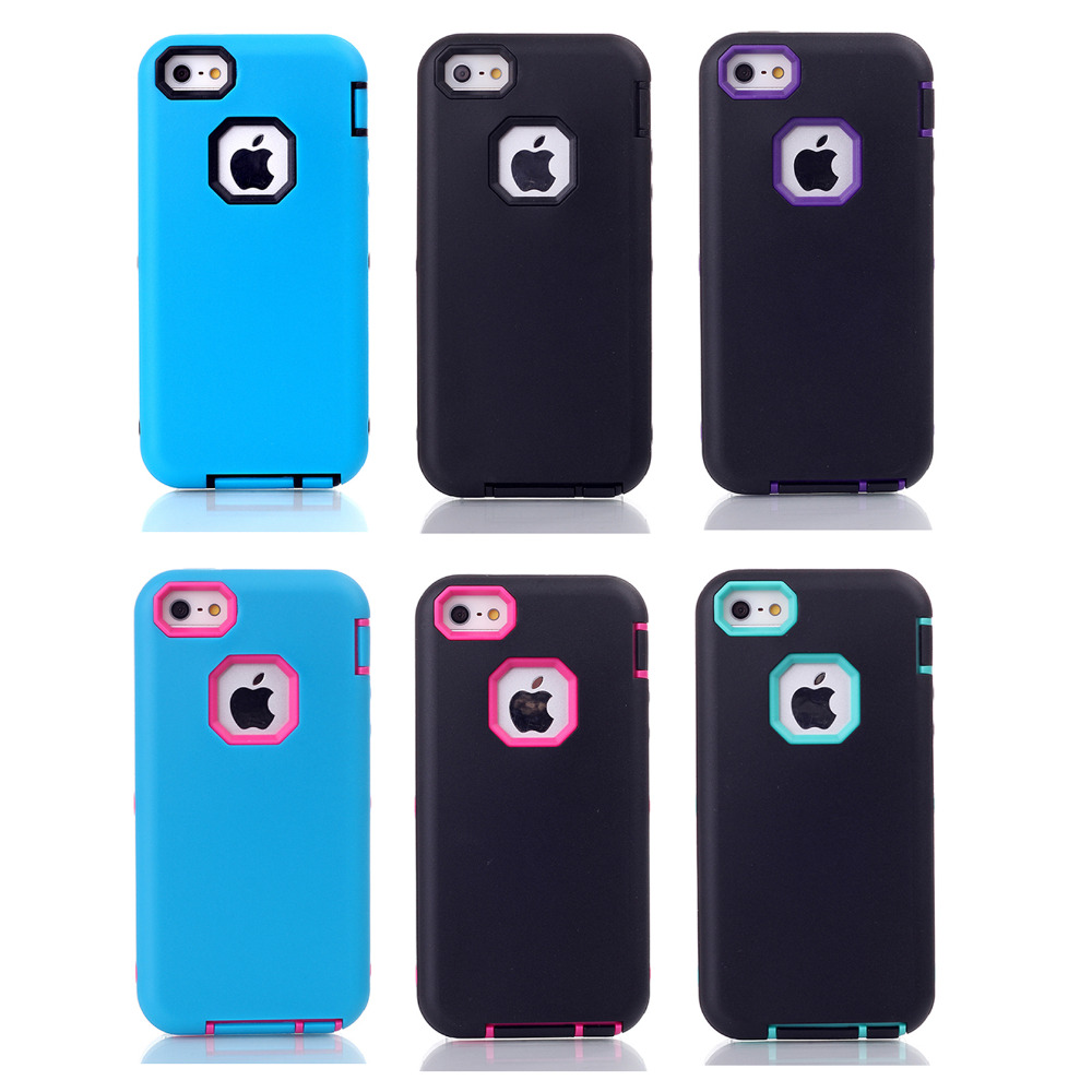 for iPhone 5/5C/5s/se Simple style cell phone accessories iphone cases wholesale suppliers 3-in-1 pattern mobile phone hot sale(China (Mainland))