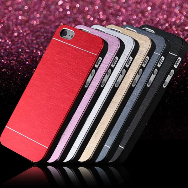 Hot sell! Gold Luxury Aluminum +PC Metal Brush Case iphone 5 5S 5G SE Phone Hard Back Cover apple 5s se - YXF Group CO.,LTD store