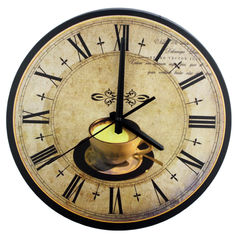 12 inch coffee decorative wall clocks absolutely silent Modern clocks for kitchen