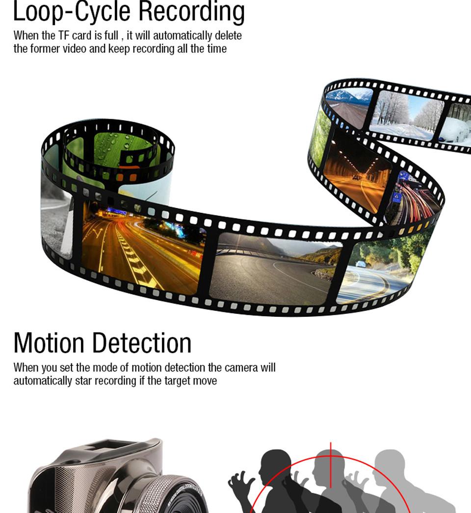 Купить Оригинал Anytek A3 DVR Full HD Тире Камерой ночного видения Автомобиля DVR Новатэк 96655 Мини-Автомобиль Камеры 170 широкоугольный автомобильный Видеорегистраторы черный коробка