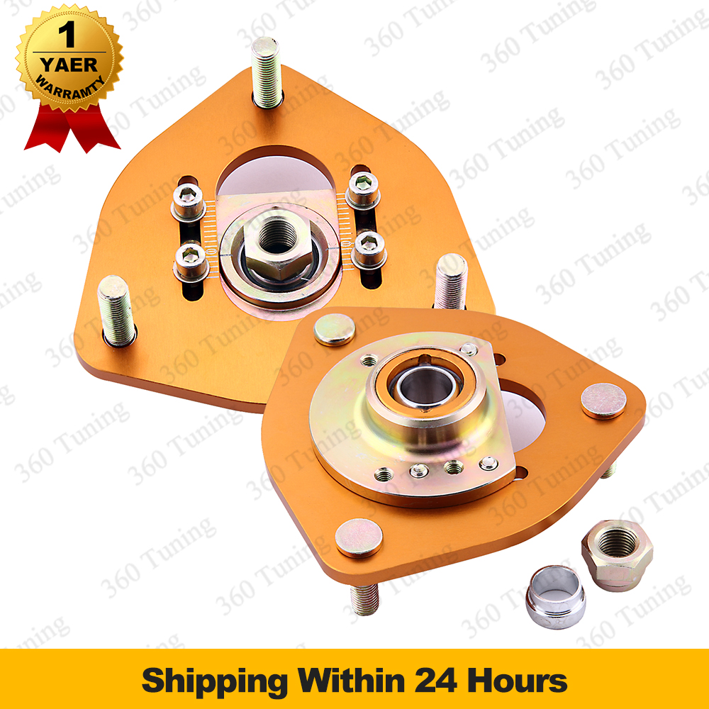 For Nissan S13 S14 Silvia 180SX 240SX Front Coilover Camber Plate Top Mount Adjustable PillowBall Coilover