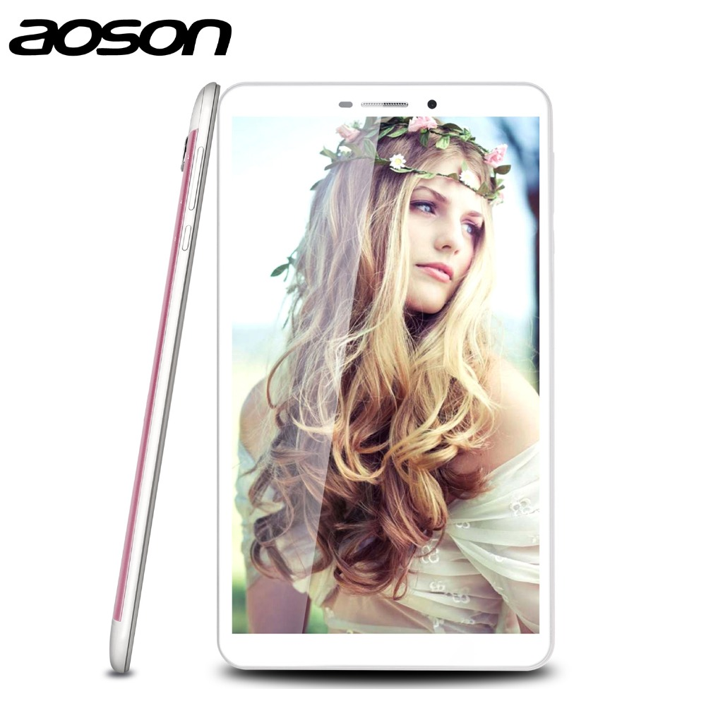 Optional Silver/Pink Aoson M76T 7 inch Tablet PC Android 4.4 RAM 2GB Octa Core MT8392 Dual Cam 13.0MP Dual SIM With Playstore(China (Mainland))