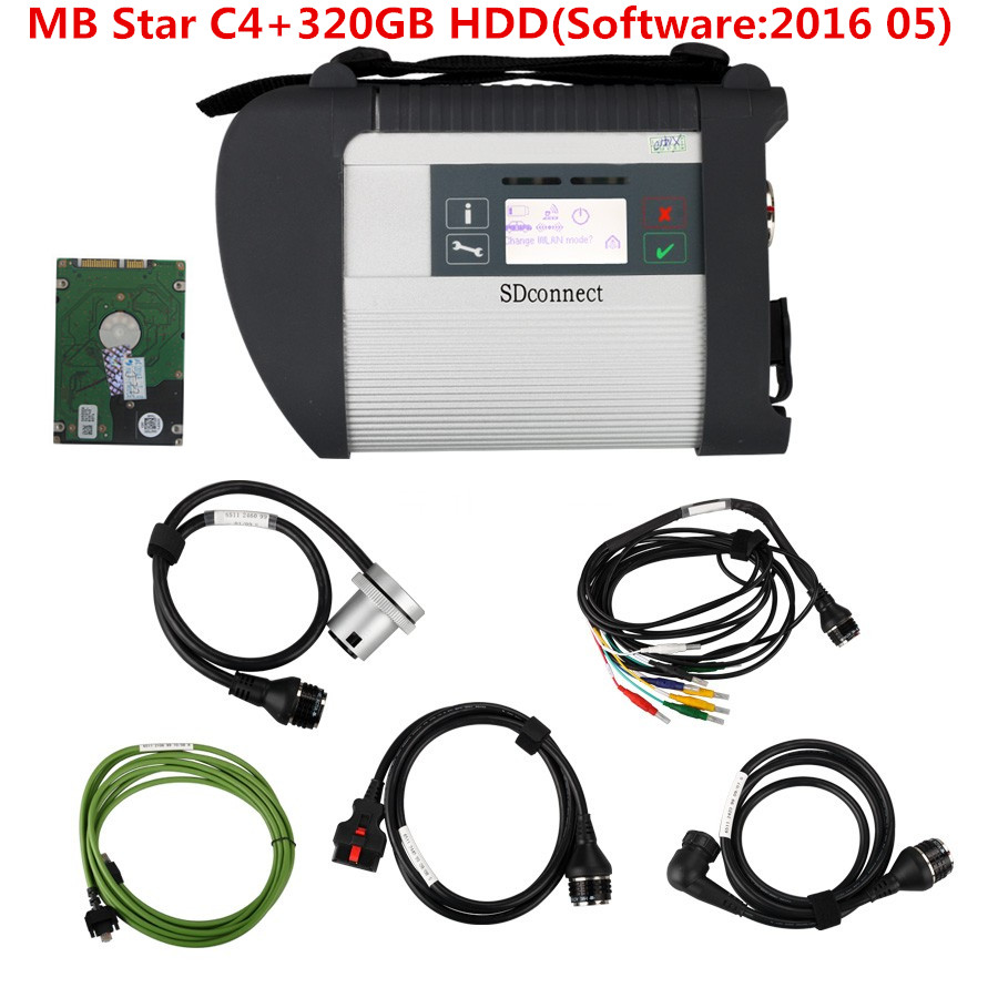 2016 hottest car diagnostic tool Star C4 MB plus 201605 software HDD 320GB professional for Mercedes Benz Free shipping(China (Mainland))