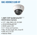DAHUA 1 4MP Vandalproof IR HDCVI Dome Camera with 2 7 12mm Varifocal Lens IP66 t