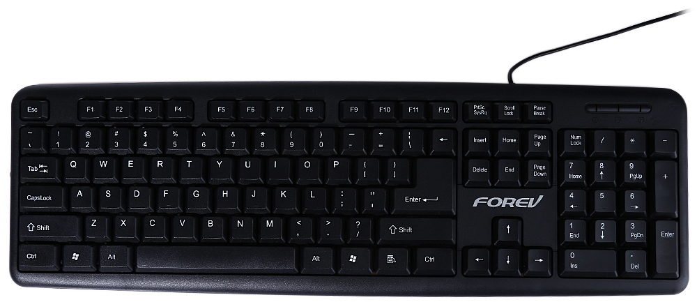Best FOREV FV - K500 Wired Keyboard Usb Portable Laptop Super Slim USB 2.0 Wired Stylish Keypad For Office Computer And Gaming(China (Mainland))