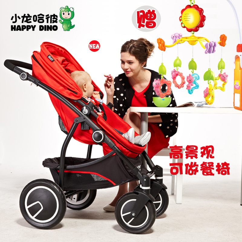 free shipping Hananel dharmakara of bruce fashion baby stroller child four cart high quality deluxe edition 2014 new wholesale(China (Mainland))