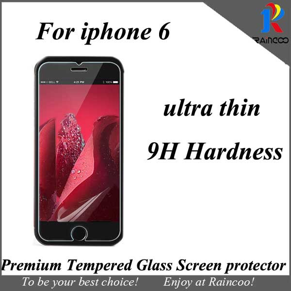 1 iphone 6 4.7 inch ultra thin premium tempered glass screen protector,opp bag packing - Raincoo Industrial Company Limited store