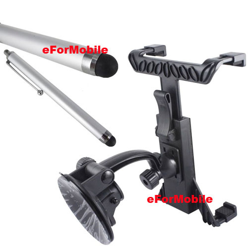 Rotary Tablet Holder Tablet PC Stand Window Sunction Holder Stylus For Samsung Galaxy Tab 4 10