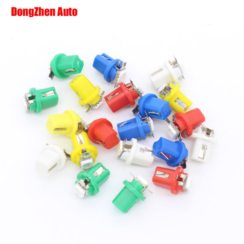 1X Auto 5050 B8.5 LED Car T5 B8.5d LED 5050 Gauge Speedo Bulb Dashboard Instrument Dash Side Light Source Interior Lighting 12V(China (Mainland))