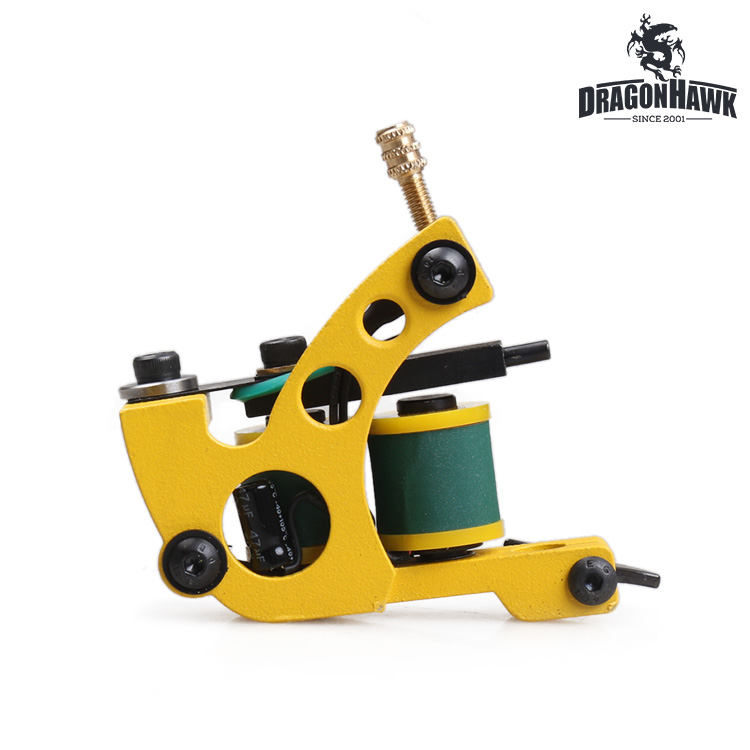 Professional Handmade Tattoo Machine Yellow Color Shader Machine Tattoo Supply<br><br>Aliexpress