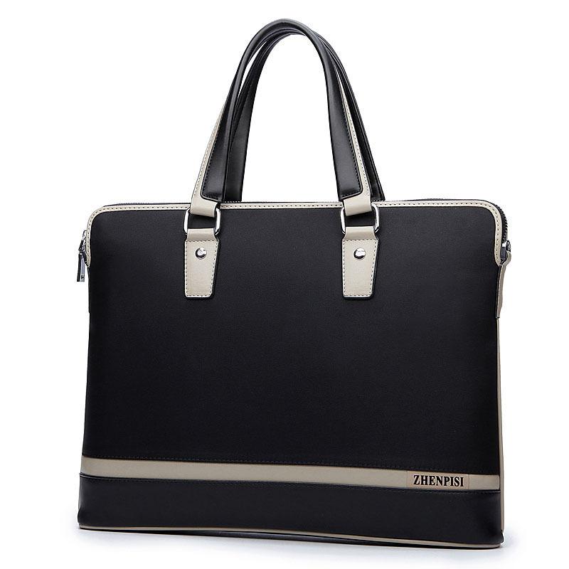 2015 famous brand men bag designer handbags high quality men messenger bags purses and handbags sac a main black leather bag(China (Mainland))
