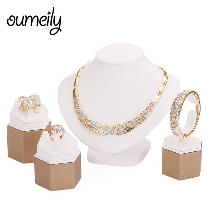 jewelry sets imitation crystal necklace set wedding accessories bridal