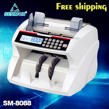 Digital Display Money Counter Suitable for EURO US DOLLAR Bill Counter Cash Counting Machine Bank Equipment SM-8088(China (Mainland))
