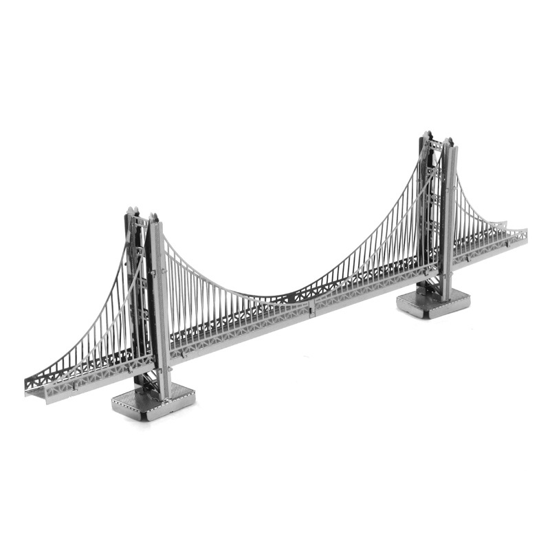 Love spell all metal DIY assembly model 3 d nano three-dimensional jigsaw puzzle The golden gate bridge(China (Mainland))