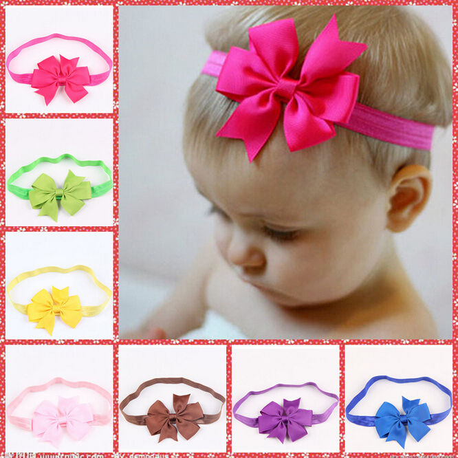 Summer 2015 children headbands kids baby cute hairband girls knot headband boutique hair bows head band drop shipping(China (Mainland))
