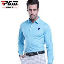 PGM authentic polo full sleeve t shirt men golf apparel compresion golf shirts for men camisa polo 2015 dry golf shirt clothing