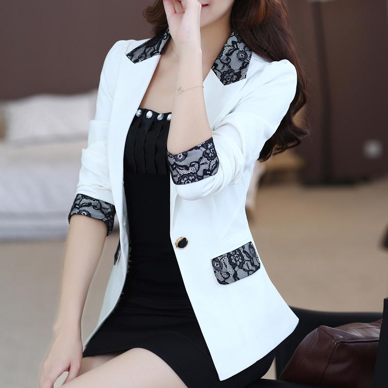 2016 spring autumn female work wear blazer outerwear slim casual women lace suit jacket coat ladies blazers - Online Store 926713 store