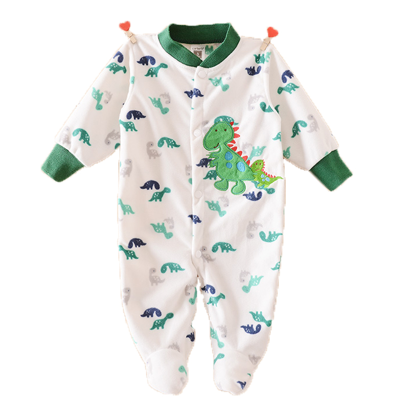 Fleece Baby Rompers Cartoon Brand Newborn Baby Clothes Baby Boys Girls Long Sleeve Footed Rompers Infant Baby Pajamas Product(China (Mainland))