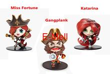 Buy LOL Cosplay Katarina Miss Fortune Gangplank 10cm/3.9'' Q Version HI-Q PVC GK Garage Kit Action Figures Toys Model for $15.99 in AliExpress store