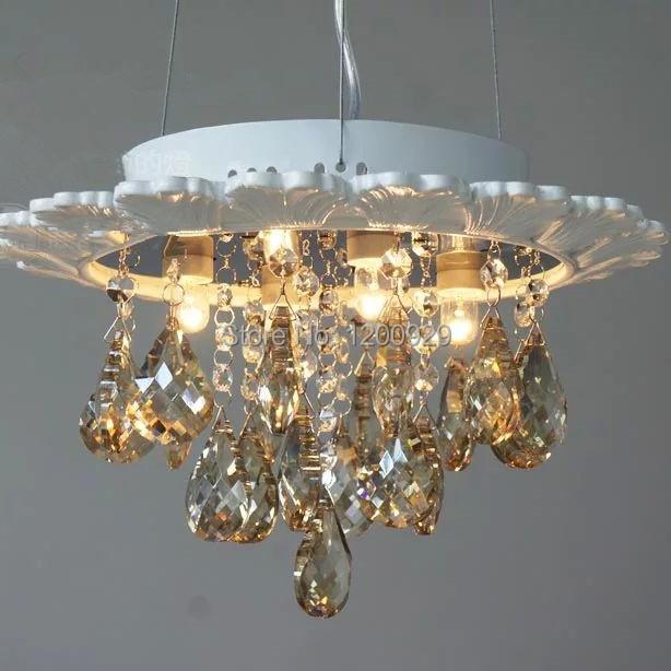 Wonderland New Crystal Ceiling Light Elegant Shell Lustres American Country Rustic Luxury Aisle/Living Room European Lamp D-19(China (Mainland))