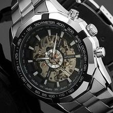 Famoso ganador automático esquelético del reloj de Mens mecánico de pulsera reloj deportivo resistente al agua reloj hombre para el regalo