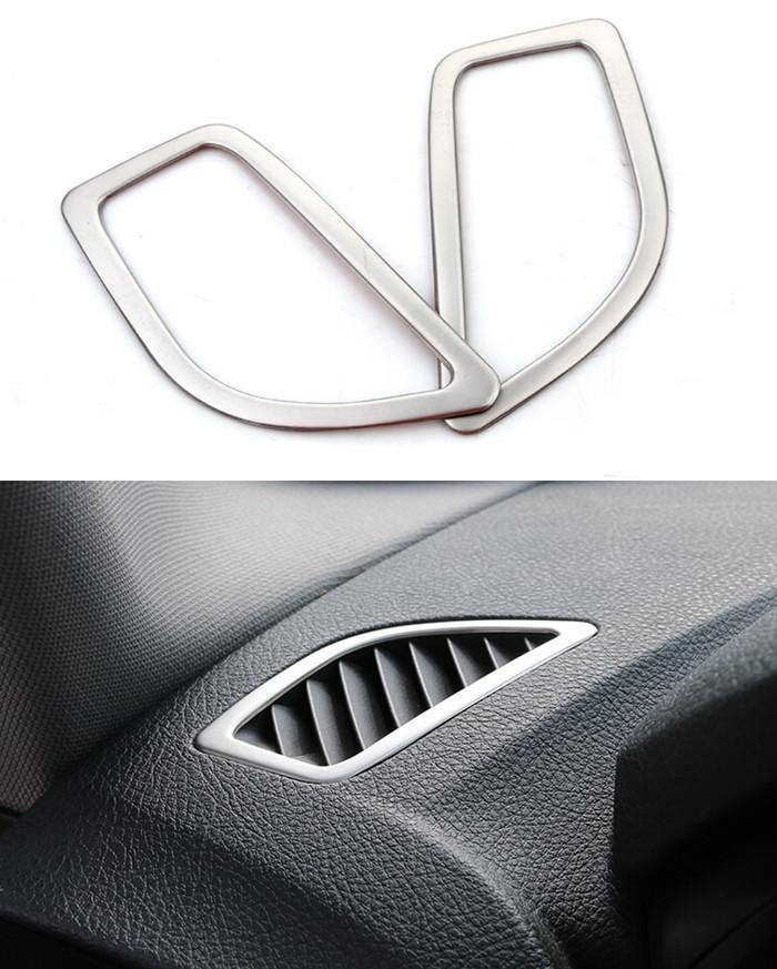 car interior instrument air outlet frame decorative cover trim chrome stainless steel strip 3d. Black Bedroom Furniture Sets. Home Design Ideas