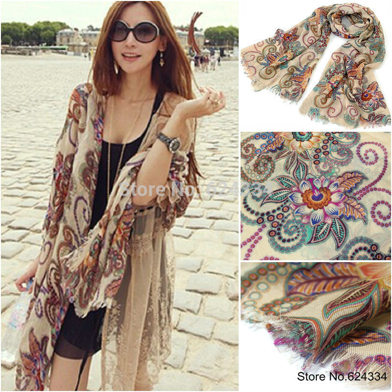 2015 Limited Horse European And American Style!2014 Winter Brand Designer Retro Totem Scarf Women Echarpes Long Scarves Shawl(China (Mainland))