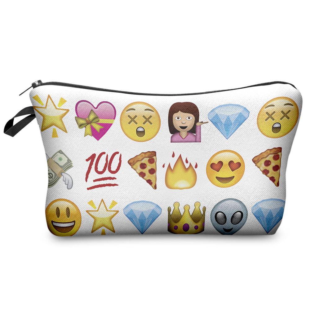 zohra cosmetic bag 2016 selling fashion brand trousse de toilette 3d printing pouch pochette