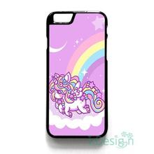 Fit for iPhone 4 4s 5 5s 5c se 6 6s 7 plus ipod touch 4/5/6 back skins cellphone case cover FUNNY CUTE UNICORN RAINBOW