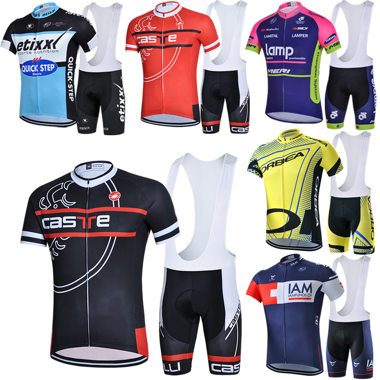 The team edition straps short sleeve cycling clothing Air is prevented bask in antibacterial contains 3 d cushion(China (Mainland))