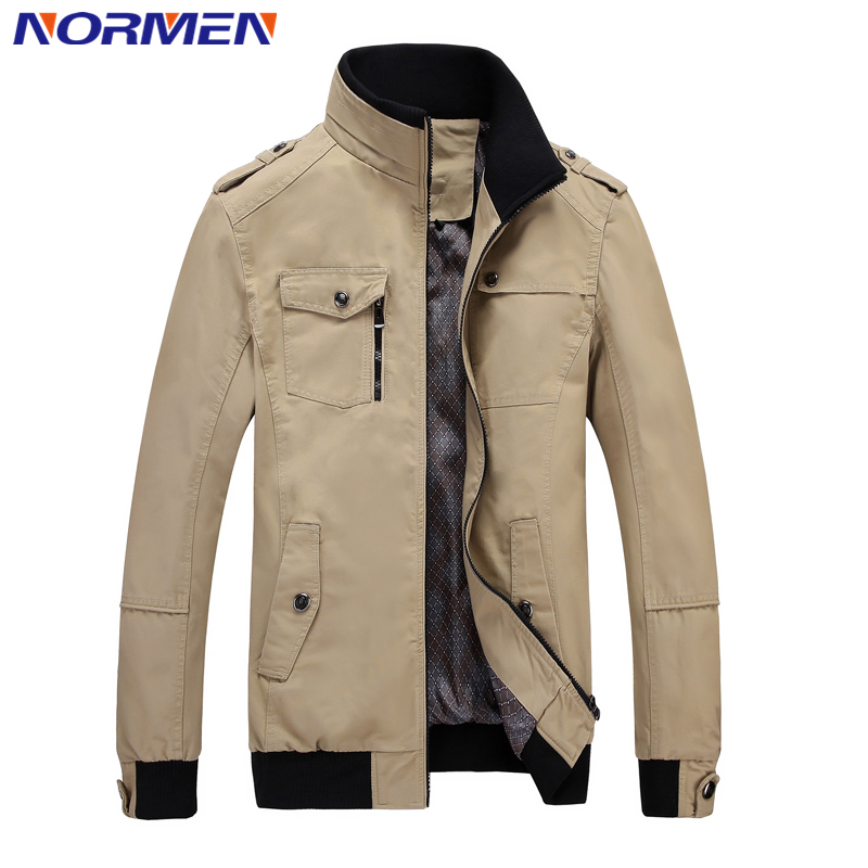 2016 New Brand Men's Bomber Jacket Hight Quality Solid Jacket Men Thin Fashion Cotton Jackets and Coats For Men Brand Clothing(China (Mainland))