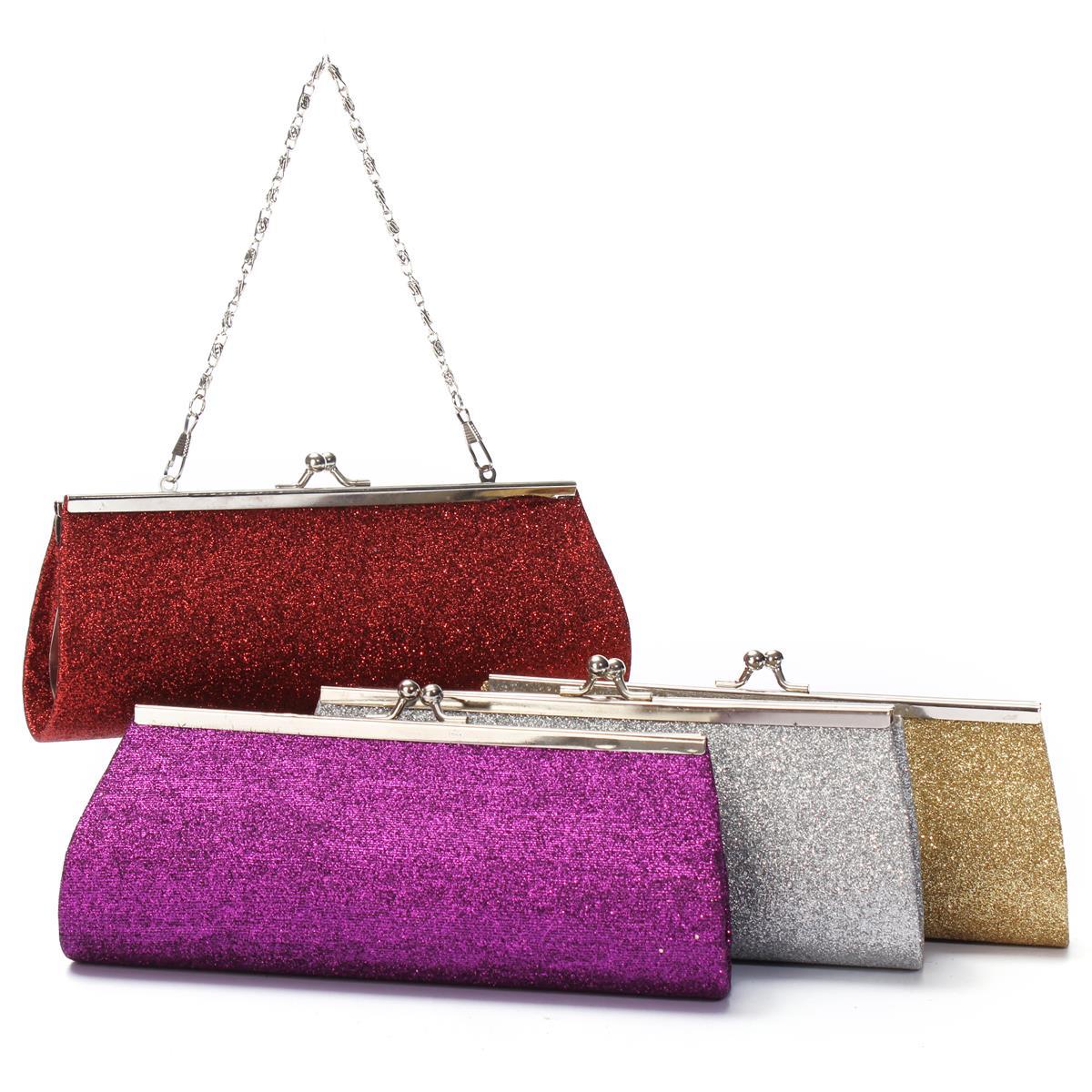 2015 Fashion Small Long Evening Bag Ladies Glitter Shoulder Chain Bag Purse Handbag Wedding Dinner Package Girls Clutch Bags New(China (Mainland))