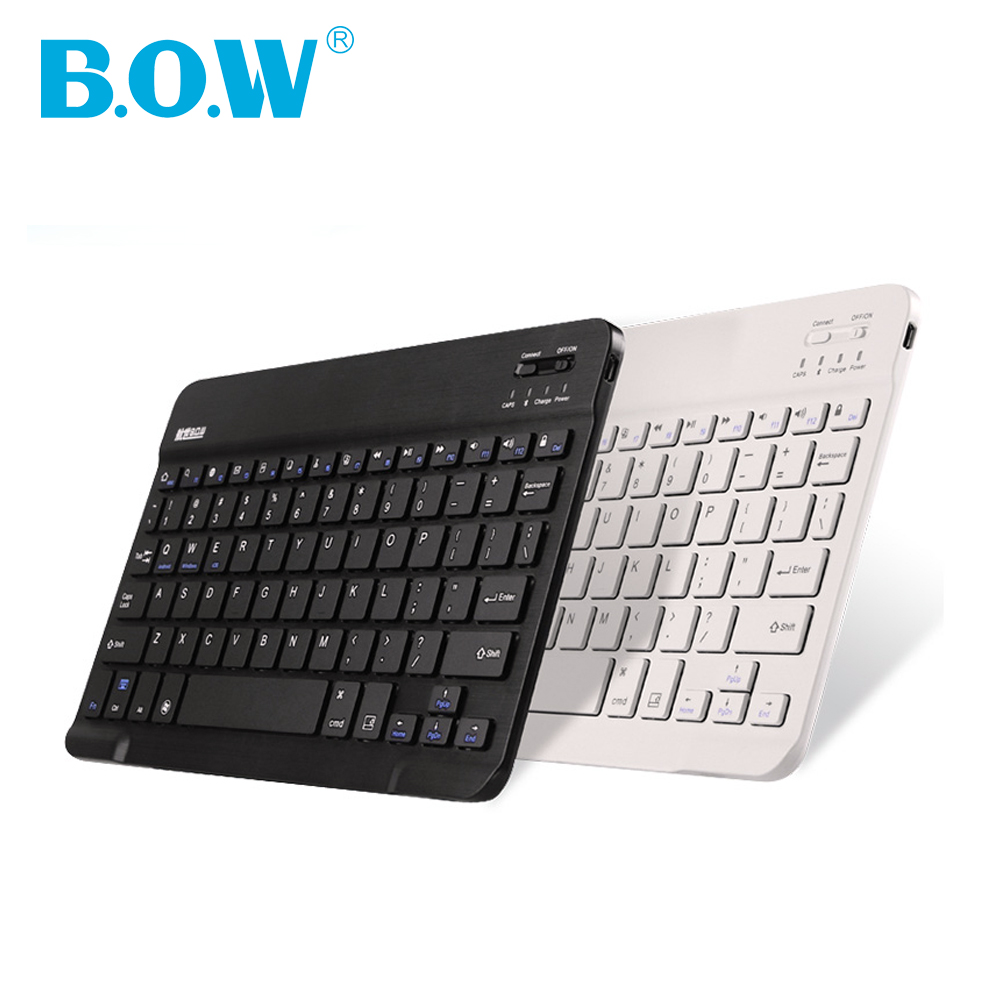 "Universal keyboard 7"" 8"" Inch Ultra Slim Aluminum Wireless Bluetooth Keyboard For IOS Android Tablet PC Windows Smarphones(China (Mainland))"