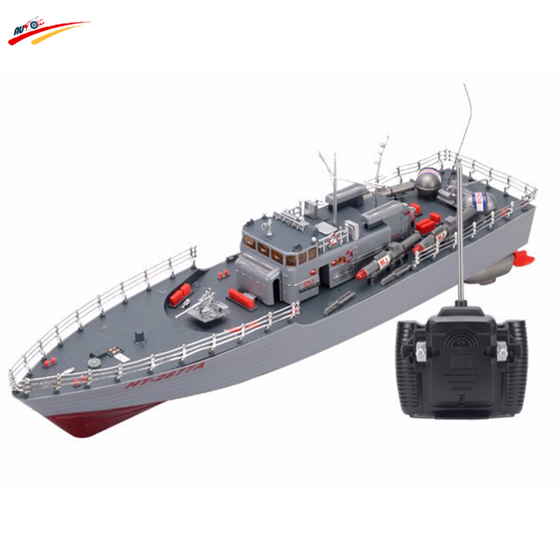 RC Boat 1:115 Scale Torpedo Boat Model High Power Simulation Guided Missile Destroyer Led Light Electronic Warship Toys(China (Mainland))