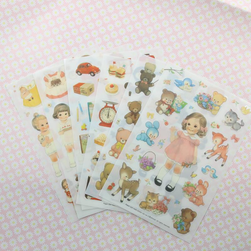 1 Pc / Pack Vintage Afrocat Doll Mate Diary Deco Paper Kawaii Stickers/sticky Note/post It/decoration Label 6 Into<br><br>Aliexpress