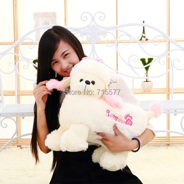 1 piece size 40 cm cartoon Creative girl child baby dog stuffed plush toys pillow doll Children's birthday present(China (Mainland))