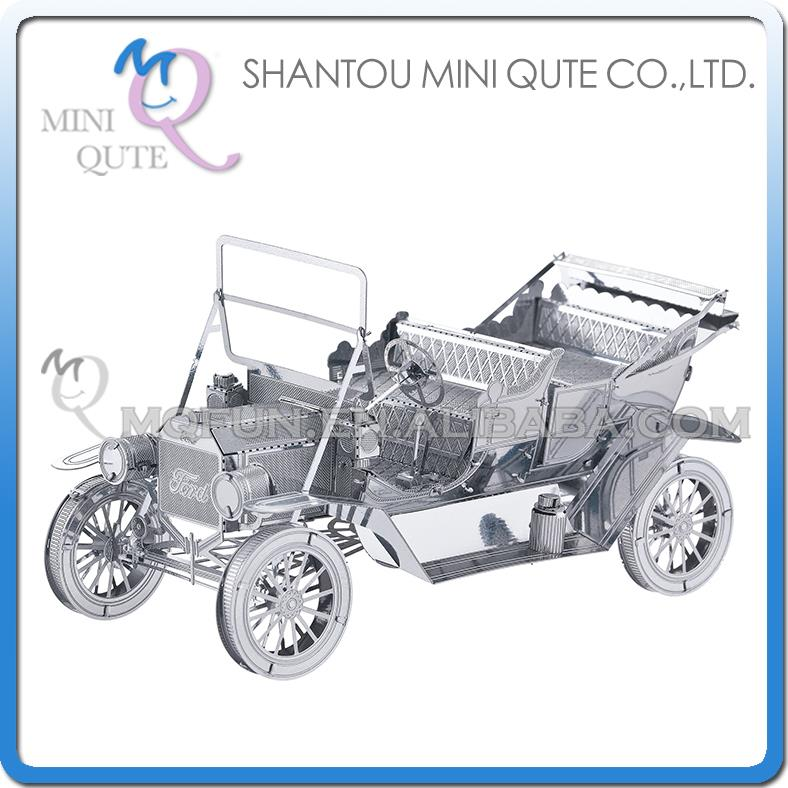 192pcs/lot Mini Qute 3D Metal Puzzle Ford old classic car military vehicle Adult kids model educational toys gift NO.I21107(China (Mainland))