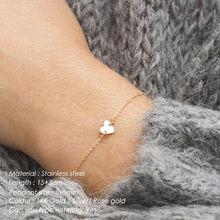 eManco DIY Stainless Steel Bracelets for women Adjustable Chain Charm Bracelet 2 piece Set women Custom Bracelet Jewellery(China)