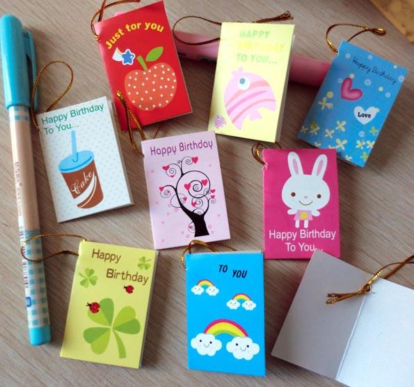 Гаджет  64pcs/lot Creative Cartoon Mini Small Greeting Cards For Birthday Cute Gift Design Message Card(AKL-057) None Офисные и Школьные принадлежности