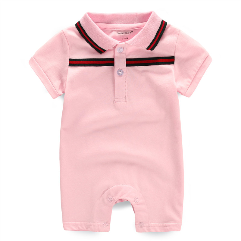 2017 Baby Rompers Newborn Baby Clothes for Cotton 0-12M Short Sleeve Next Baby Clothing Girls Boy Romper Polo Collar Costume(China (Mainland))