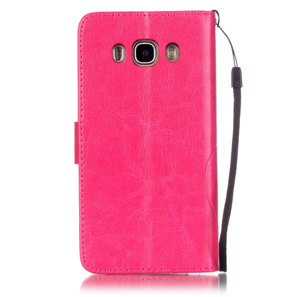 100pcs/lot Free shipping 8colours Single embossing 3 card parts wholesale leather cover case for Samsung Galaxy J5 J510 2016