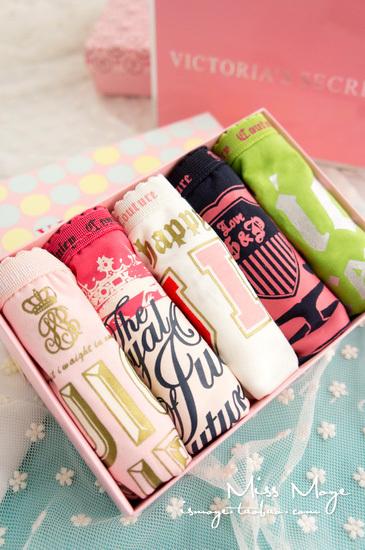 Q 7 gift box juic coutur panty female 100% cotton panties week seamless panties