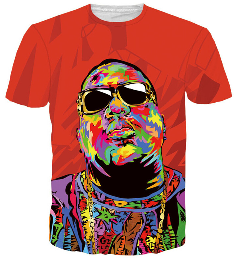 HOT! Women/Men Christopher G. L. Wallace T-Shirt Biggie Smalls tees Summer Frank White tees Notorious 3d t shirts Fashion Tops(China (Mainland))