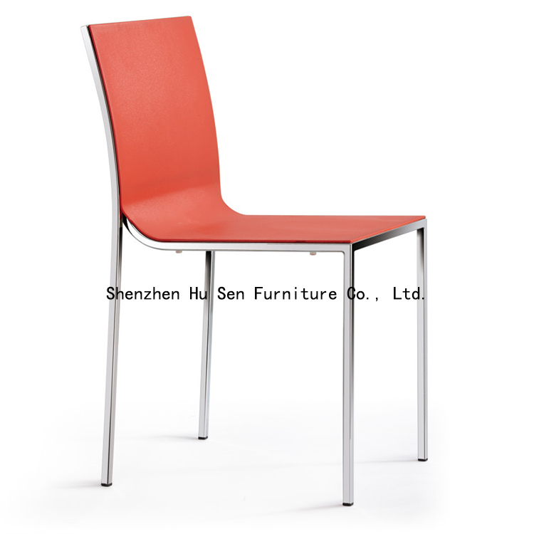 outdoor Lounge Chair fashion dining chair ABS restaurant furniture bedroom PP plastic chairs - Shenzhen Hu Sen Furniture Co., Ltd. store