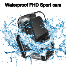 New Arrival Fashion Sport Portable Recorder Black Color Waterproof FHD Camera With 12 Mega Sports Cam Use for Cycle Climb Swim