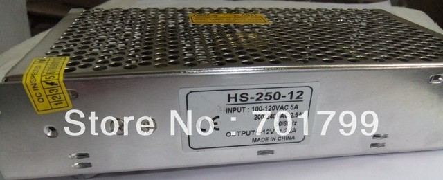12V 250W LED switch power supply;size:199*98*50mm