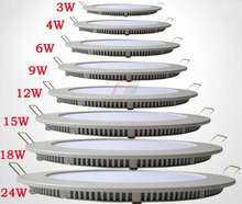 DHL 100pcs/lot Free Shipping Ultra thin 6w led panel light  AC 85-265V round led ceiling panel light LED Downlight SMD2835(China (Mainland))