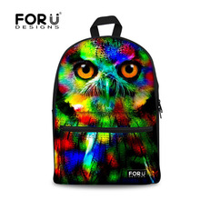 Buy Fashion 2017 Colorful Women Owl Leopard Backpack 3D Animal Print Girls School Bagpack Female Ladies Tourism Backpack Rucksack for $23.19 in AliExpress store